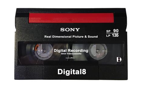 Visuel d'une cassette Digital8