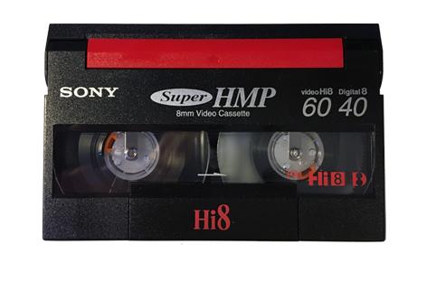 Visuel d'une cassette Hi-8