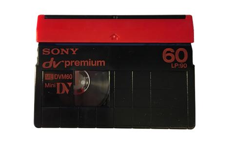 Visuel d'une cassette Minidv