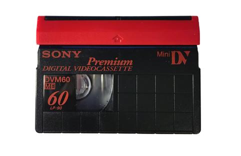 Visuel d'une cassette Minidv HDV