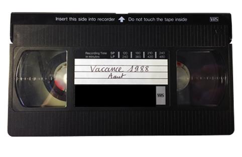 Exemple d'une cassette VHS