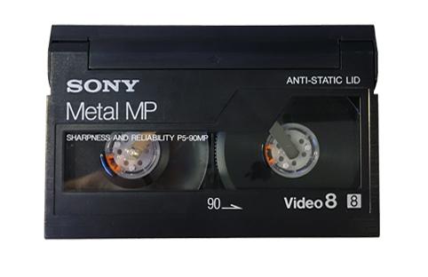 Visuel d'une cassette Video 8