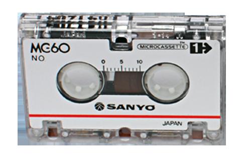 micro cassette mc60 pour le transfert de micro cassette